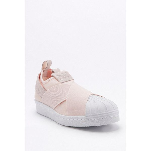 ecae5244eed69 adidas Originals Superstar Pink Slip On Trainers ( 86) ❤ liked on Polyvore  featuring shoes