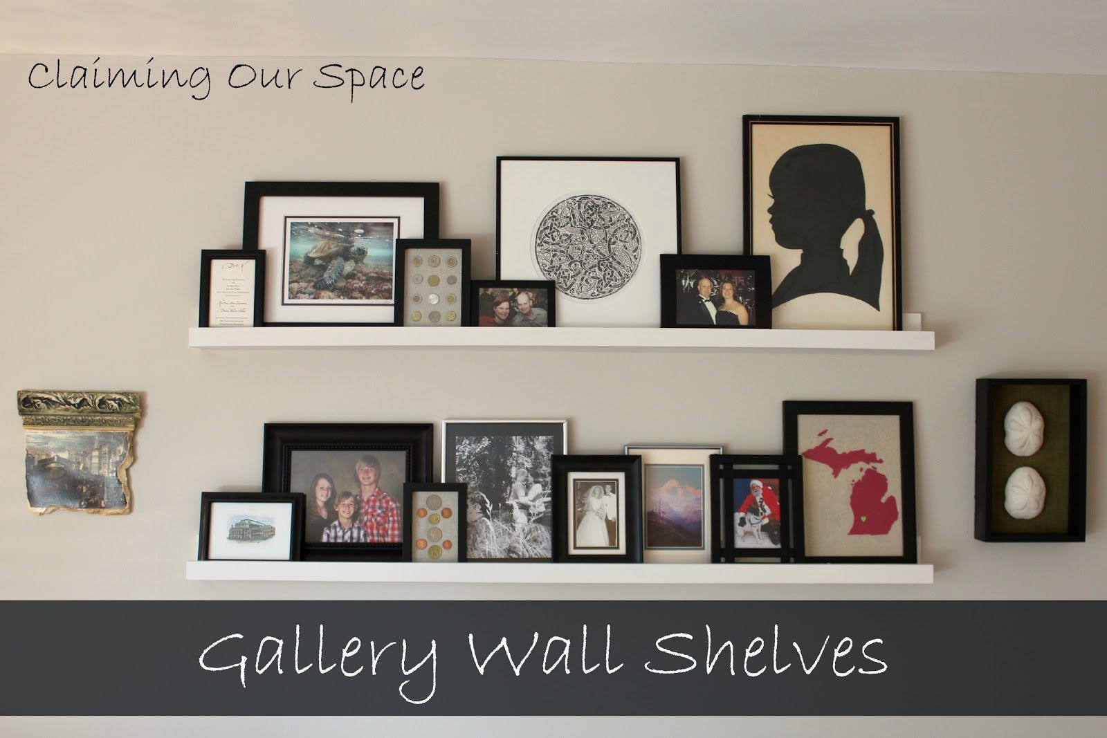 Gallery Wall Shelves wall shelves to display rocks | home decor | pinterest | shelves