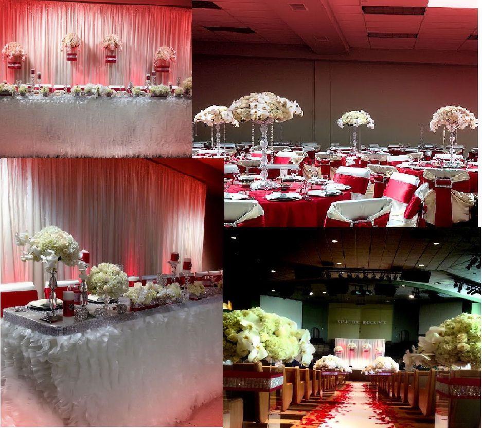 Red And Ivory Wedding Decor Wedding Pinterest Ivory Wedding
