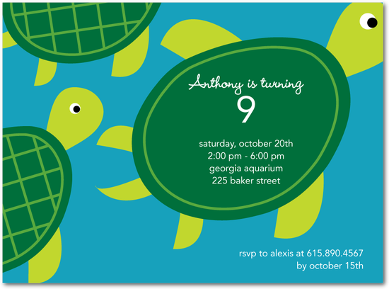 Sea Turtle Wedding Invitations: Baby Shower - Finding Nemo Theme