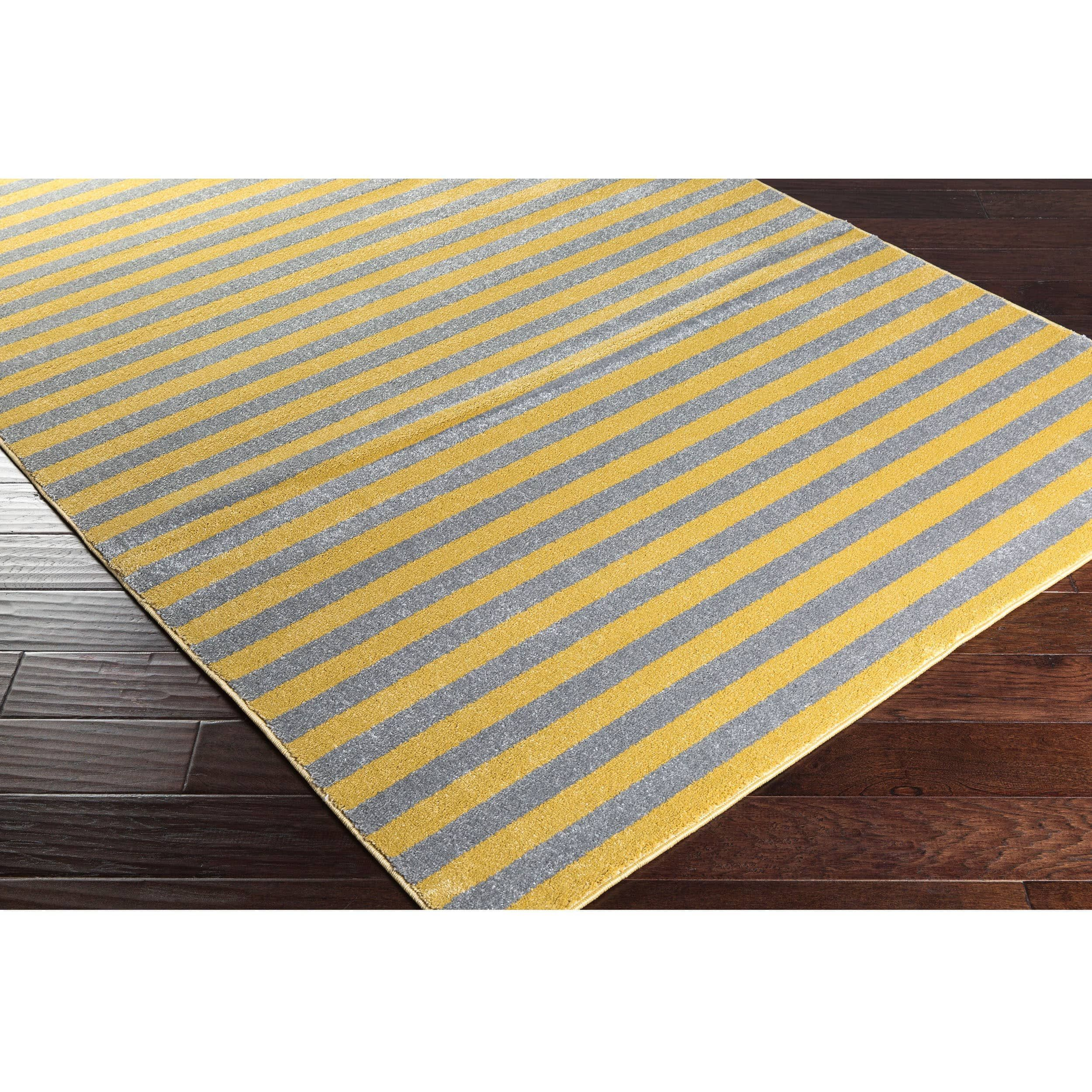 Meticulously Woven Haguenau Casual Striped Area Rug (5\'3 x 7\'3 ...