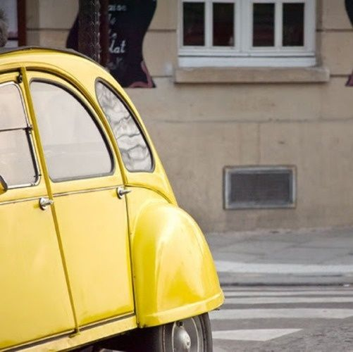 A sweet yellow ride in Paris