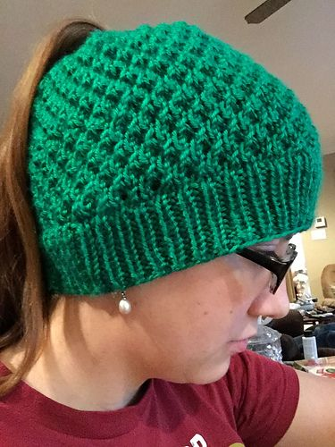 Ravelry  Ponytail Winter Hat pattern by Rosemary Krimbel. 8 ply ... 6c1597582