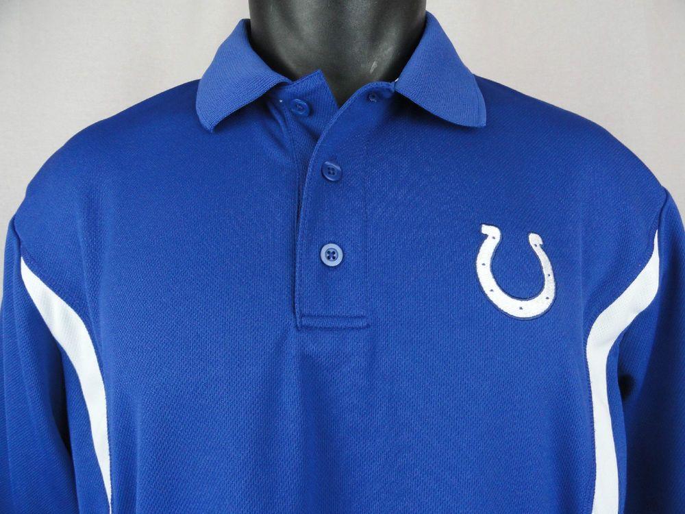 Indianapolis Colts Large Nike Team Apparel NFL Polo Shirt Logo E-System Mens S/S #Nike #Polo