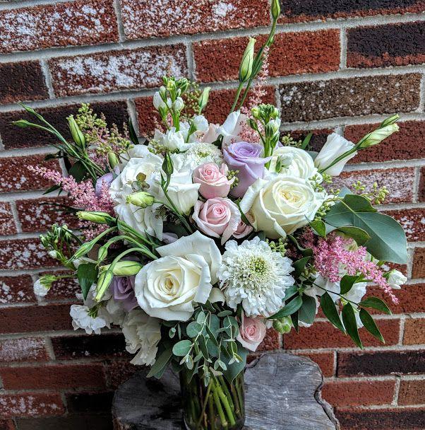 Blush, Lavender And White Bouquet. #harringtonflowers