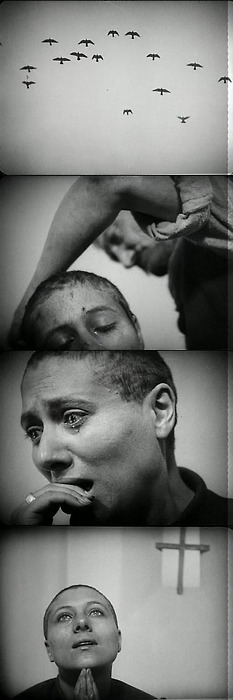 The Passion of Joan of Arc  (1928). Directed by Carl Theodor Dreyer and stars Renée Jeanne Falconetti.
