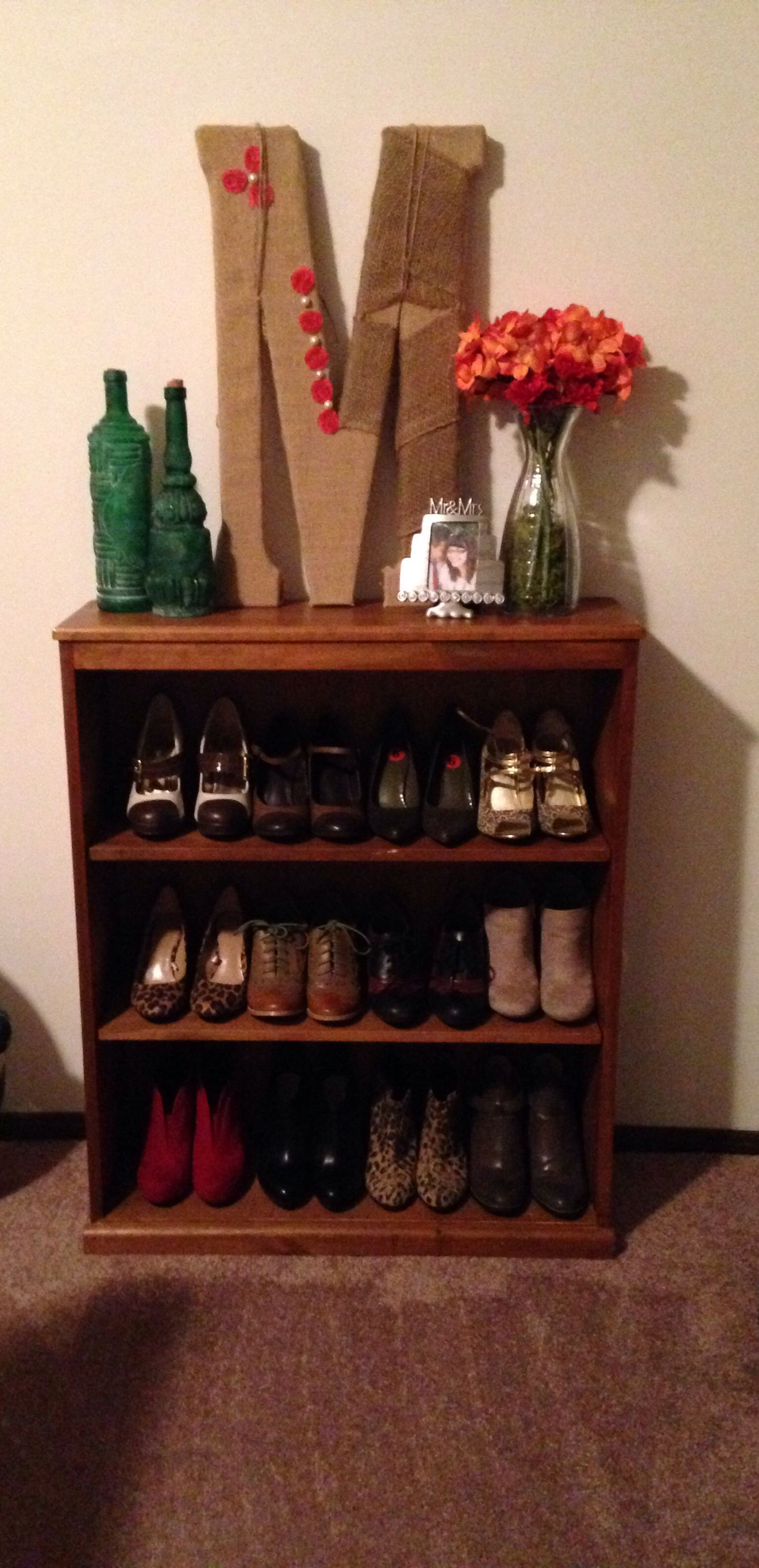 Turn A Bookshelf Into A Shoe Rack I Think Yes Repurposed
