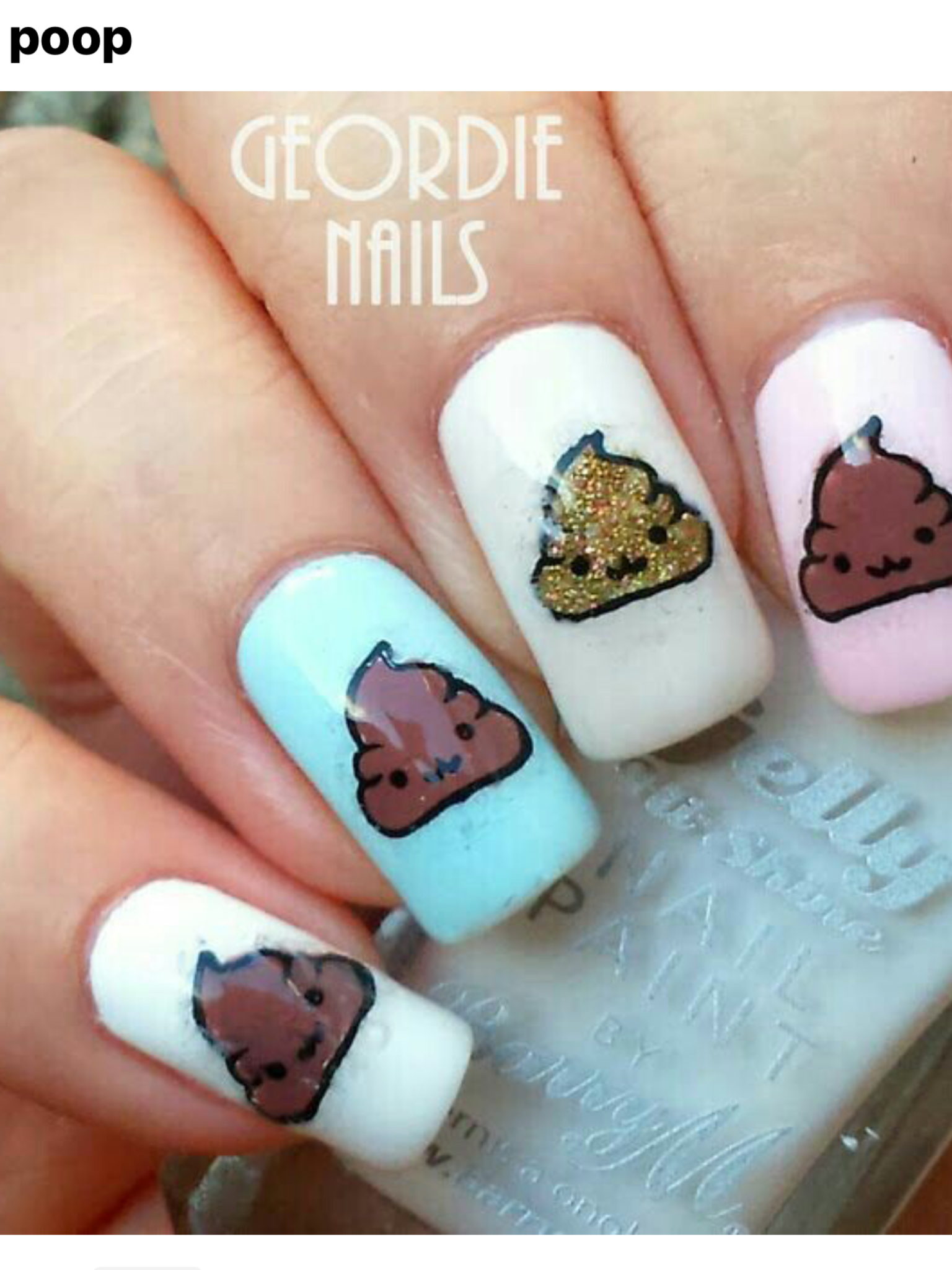 Pin by tallulah is on my style pinterest toe nail designs i wanted to make a friend giggle by replicating the poop emoji on my nails so today i have the cheeky and questionable result to s prinsesfo Choice Image