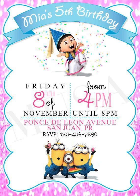 girl minion invitation template free - Buscar con Google - free template invitation