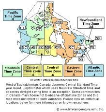 Canada Timezones Time Zone Map Time Zones Mountain Time Zone