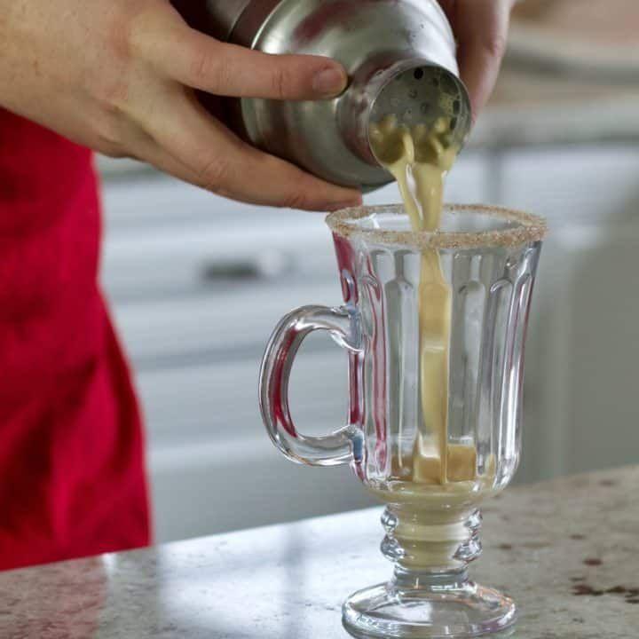 Homemade Eggnog Cocktail Holiday Drink Recipe