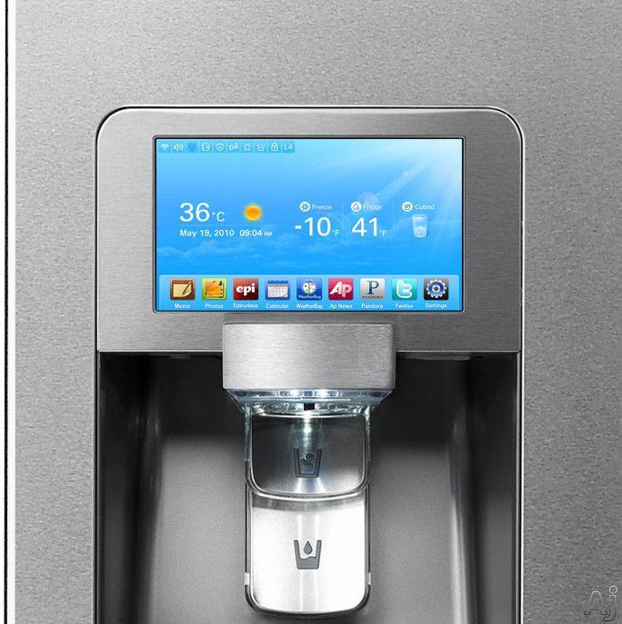 Smart Refrigerator Led Screen Kitchen Pinterest