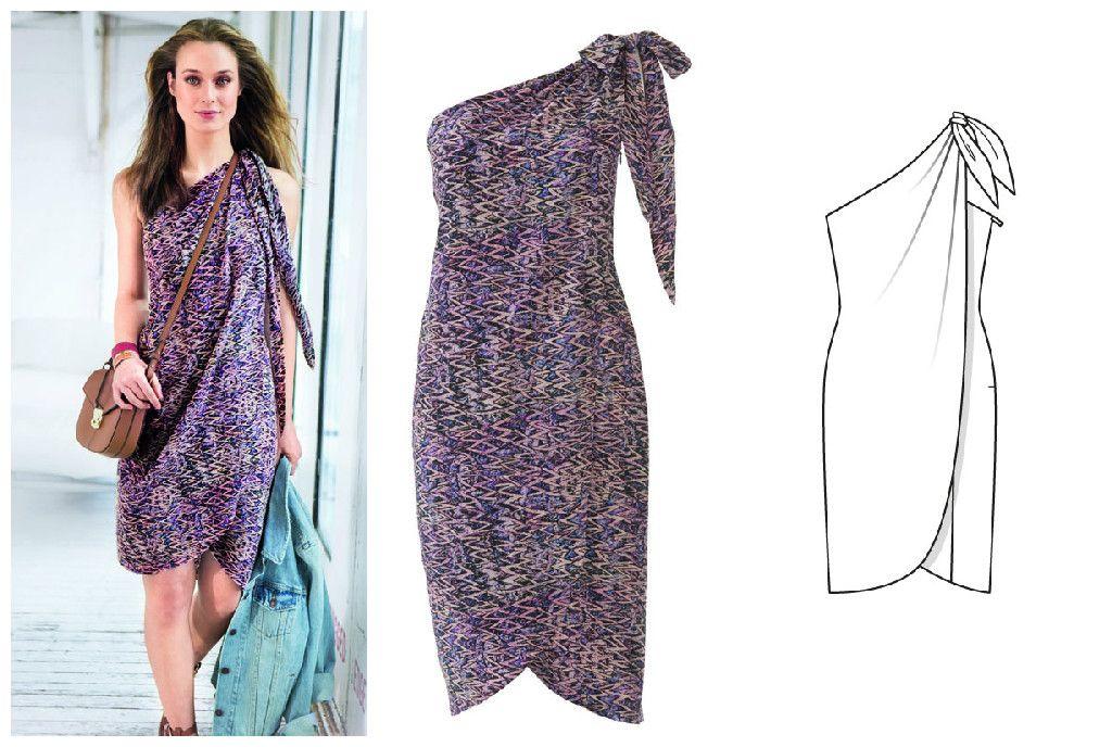 Платье-бюстье #выкройки #бурда #платье