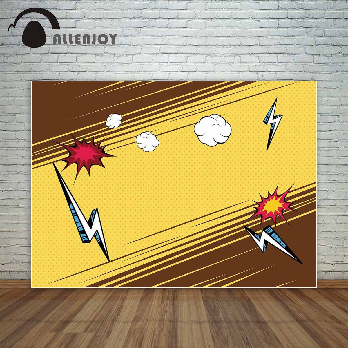 Allenjoy comic style backdrop with flash backdrop for