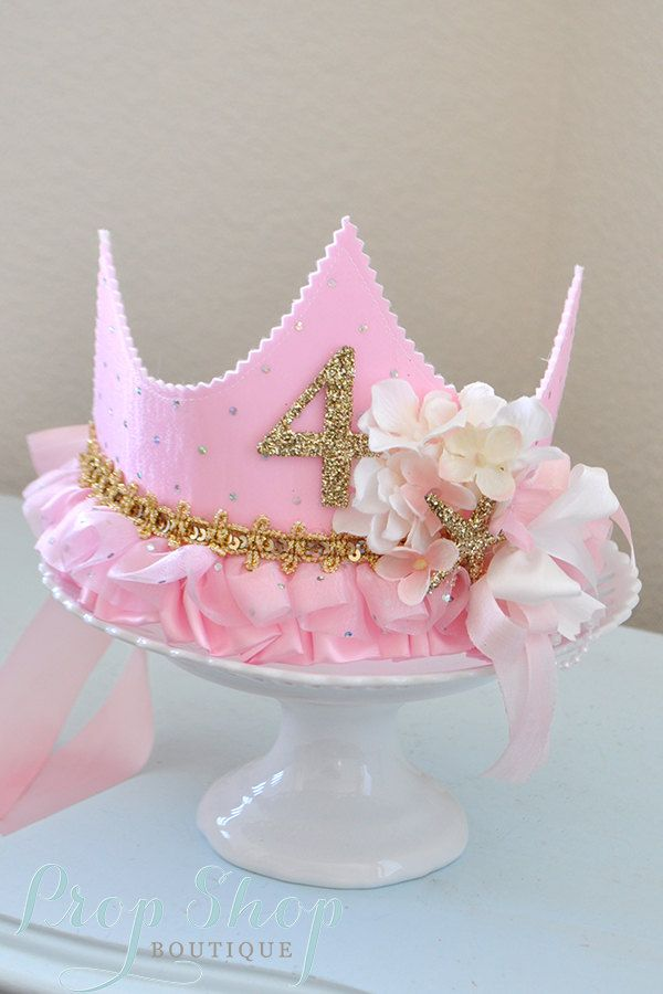 Girl Shabby Chic Birthday Princess Crown by propshopboutique