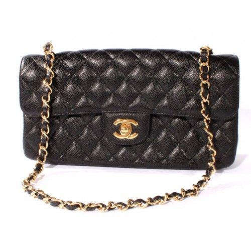 0bd21b4f8b7d 人気のシャネル Chanel マトラッセライン キャビアスキン ショルダーバッグ ブラック&ゴールド