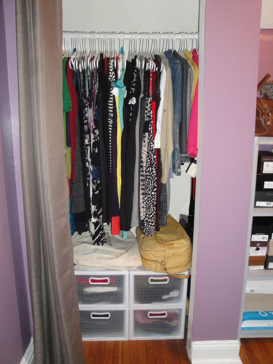 Organizing A Small Closet On A Budget Small Closet
