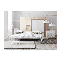 TRYSIL Cadre de lit blanc gris clair
