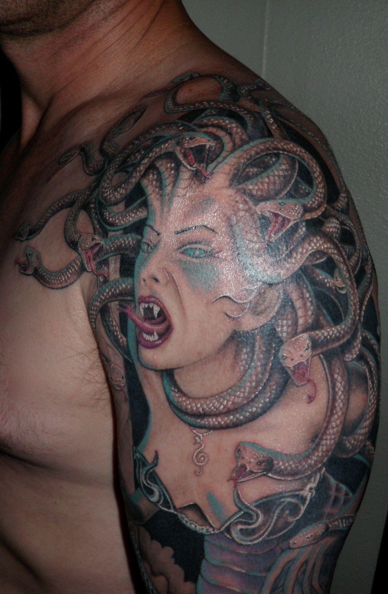 Medusa Artwork Tattoo: Hubby's Tattoos