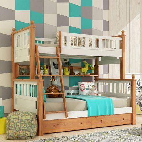 Los Niños Camas Para Niños Muebles De Camas Para Niños Con Escalera De  Madera Maciza De