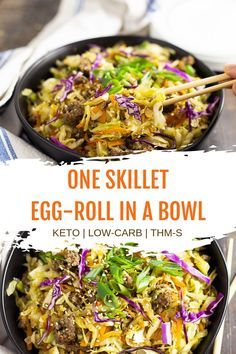 This easy pork sausage egg roll in a bowl recipe is not only low carb and THM but it is also a great healthy Paleo recipe. #CrackSlaw #eggrollinabowl #lowcarbdinner  This easy pork sausage egg roll in a bowl recipe is not only low carb and THM but it is also a great healthy Paleo recipe. #CrackSlaw #eggrollinabowl #lowcarbdinner #eggrollinabowl