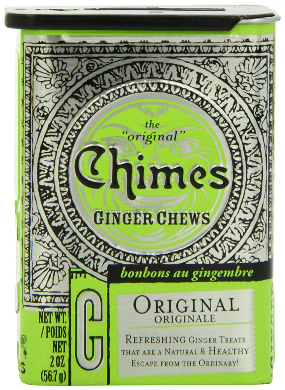 Chimes Original Ginger Chews 2 Ounce Tins Pack Of 20