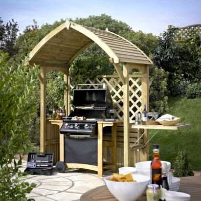 Blooma Barmouth Wooden BBQ Arbour- Home Delivered, 5397007055580
