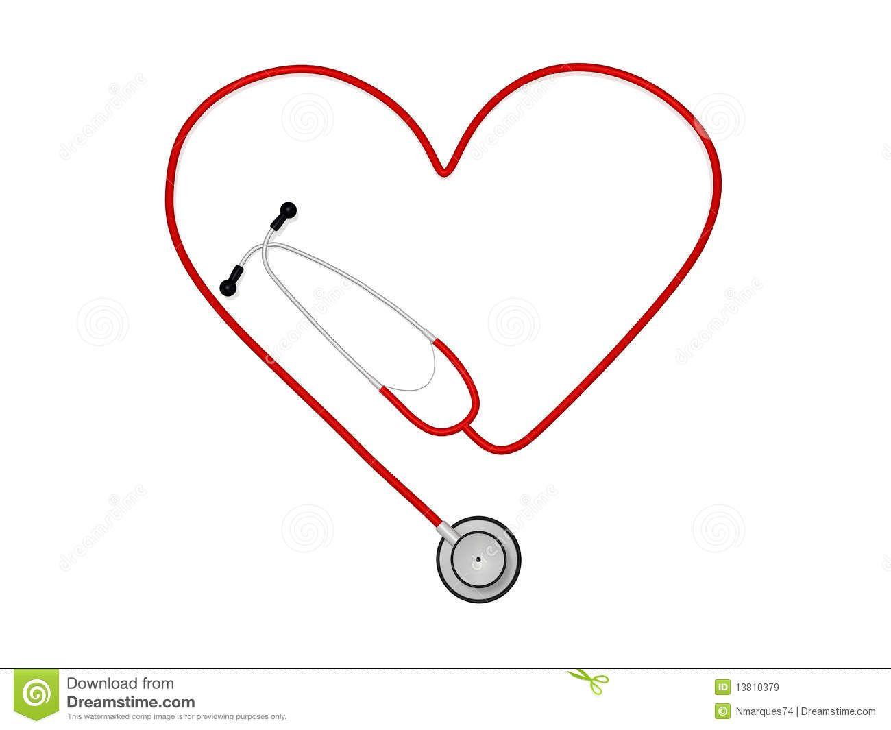 Stethoscope Heart Clipart Heart Stethoscope Nurse