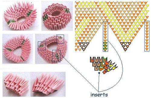 Origami Modulowe Origami 3d 30 Diagram Koszyk Kura Z Origami 3d Origami Hen Basket Tutorial 3d Origami Origami 3d Origami Tutorial