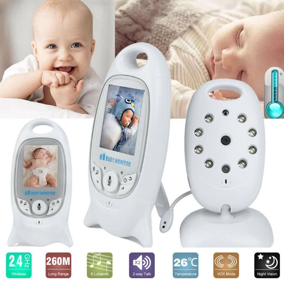 Funk Drahtlos mit Kamera Baby Monitor Temperature Video Babyphone Nachtsicht DHL