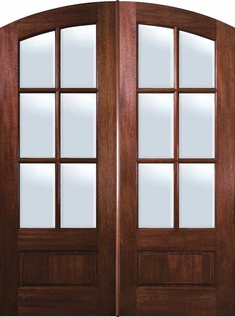 3492 Doorsnmore Prehung French Double Door 96 Wood Mahogany