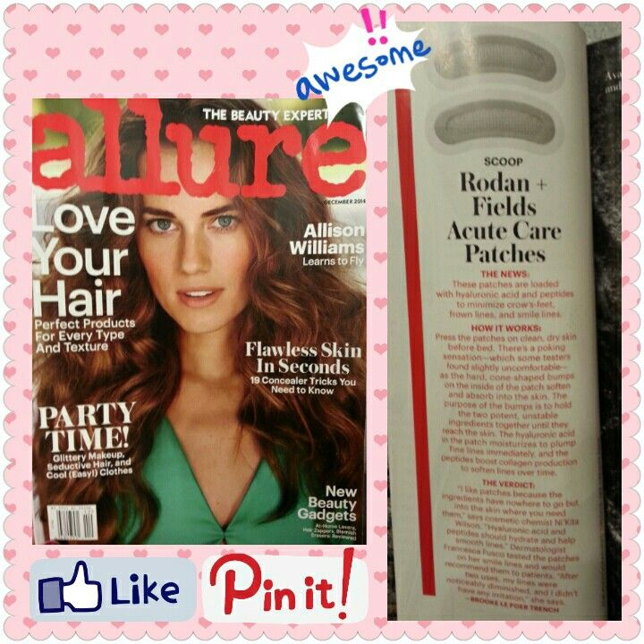 Acute care making it in the must have beauty tools section of this months Allure!!!!! First ten PC orders this month receive a free sample of Acute Care! Order here christinesmith.myrandf.com