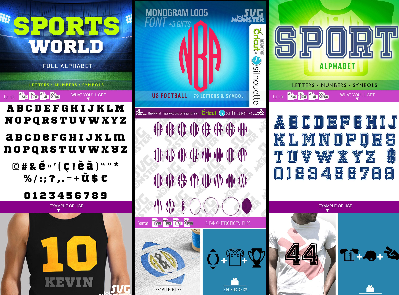 Sport Font Svg Sport Font Bundle Monogram Font Svg Sport Font Etsy Sports Fonts Monogram Fonts Font Bundles