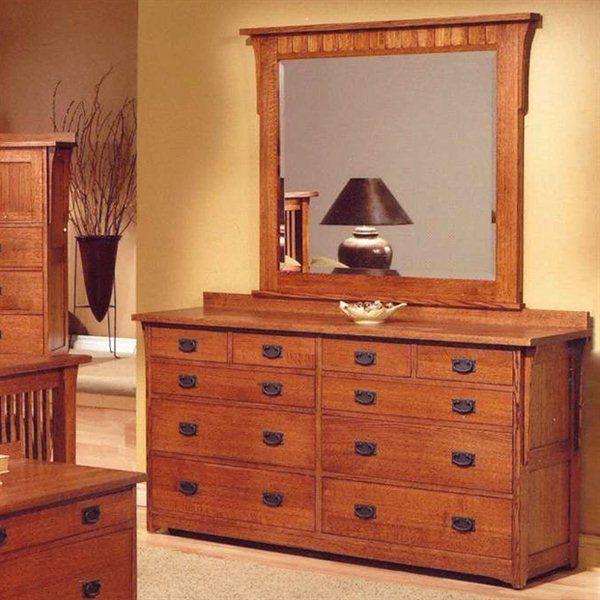 Craftman Usa 310 Mission Dresser Amp Mirror Set Bedroom