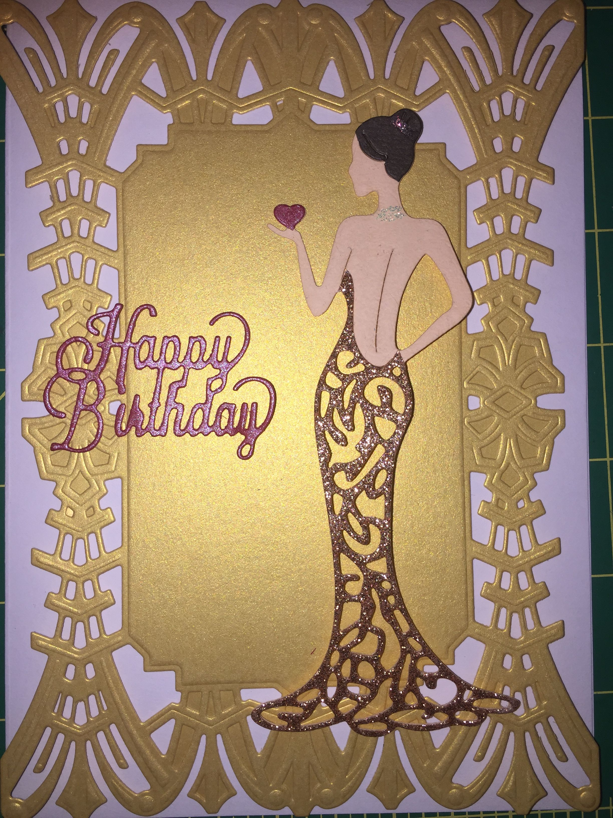 CUTTING Dies **GIRL ON A SEAT***Birthday*Cards*Topper