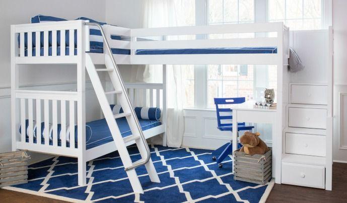 Meubles Bebe Et Junior Kido Specialiste De L Ameublement Pour Enfants A Montreal Bunk Bed Designs Corner Bunk Beds Bunk Beds