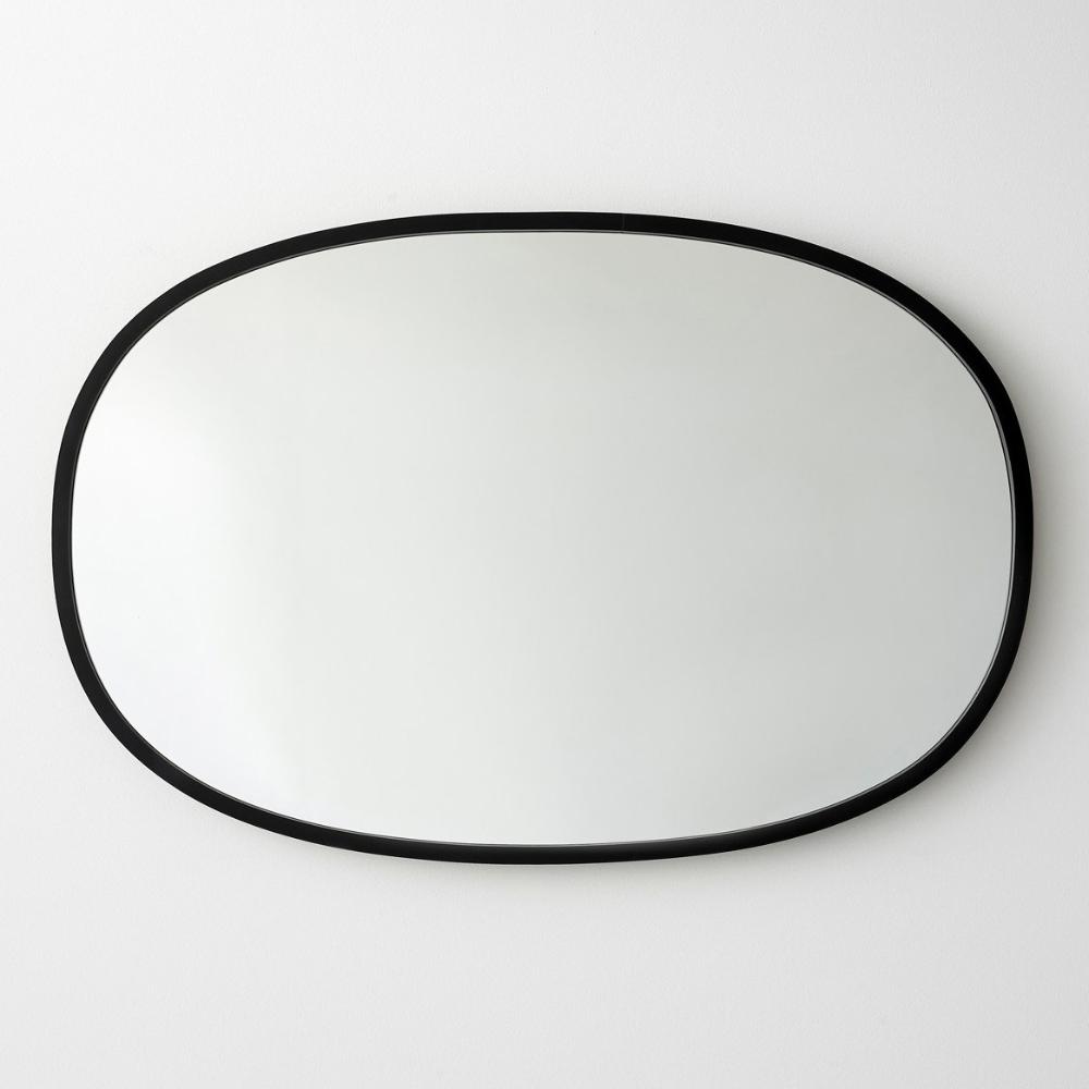 Hub Black Oval Wall Mirror 24 X 36 Black Mirror Frame Mirror