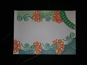 Diy simple easy  decorative border design for project file back to school youtube also rh ar pinterest