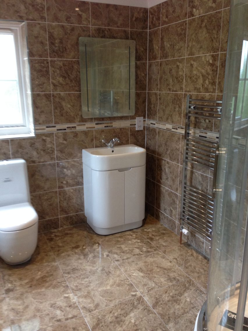 Fully Tiled Bathroom Cappuccino Brown Fully Tiled Bathroom Tiles Pinterest