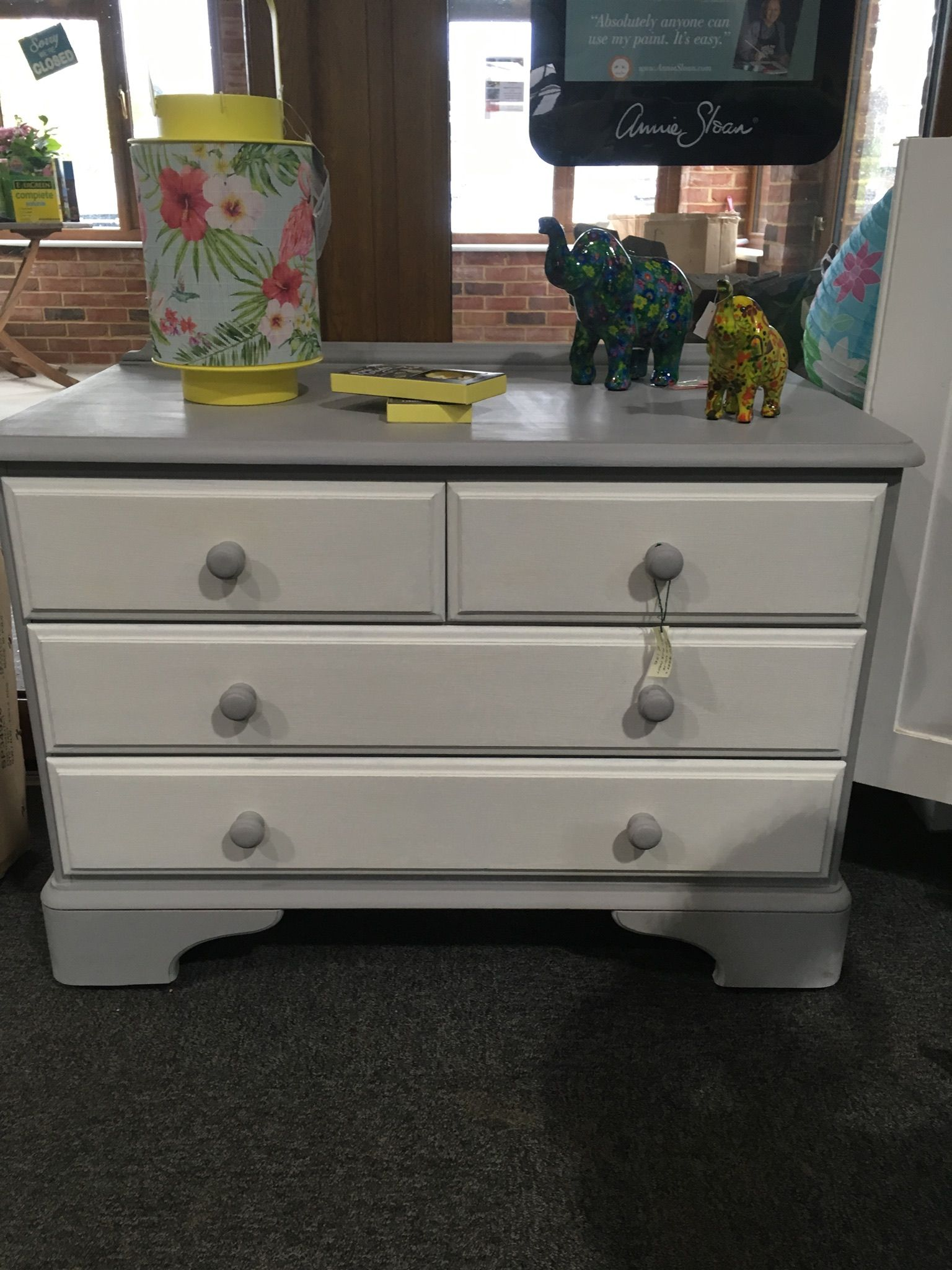 Annie Sloan Old White And Paris Grey Chest Of Drawers White Chest Of Drawers Grey Chest Of Drawers Dresser As Nightstand [ 2048 x 1536 Pixel ]