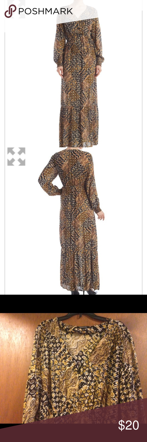 Relativity dress relativity maxi dress size xl long sleeves