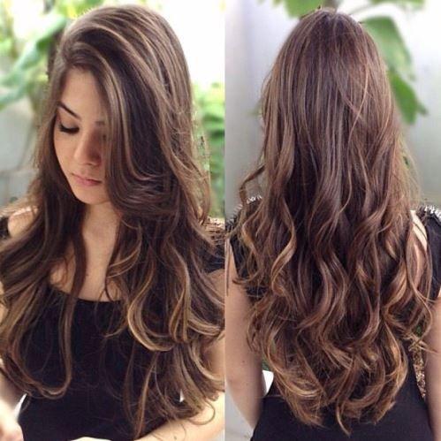 Resultado de imagem para cabelo longo com mechas