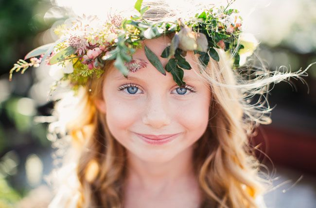 flower crown for a flower girl