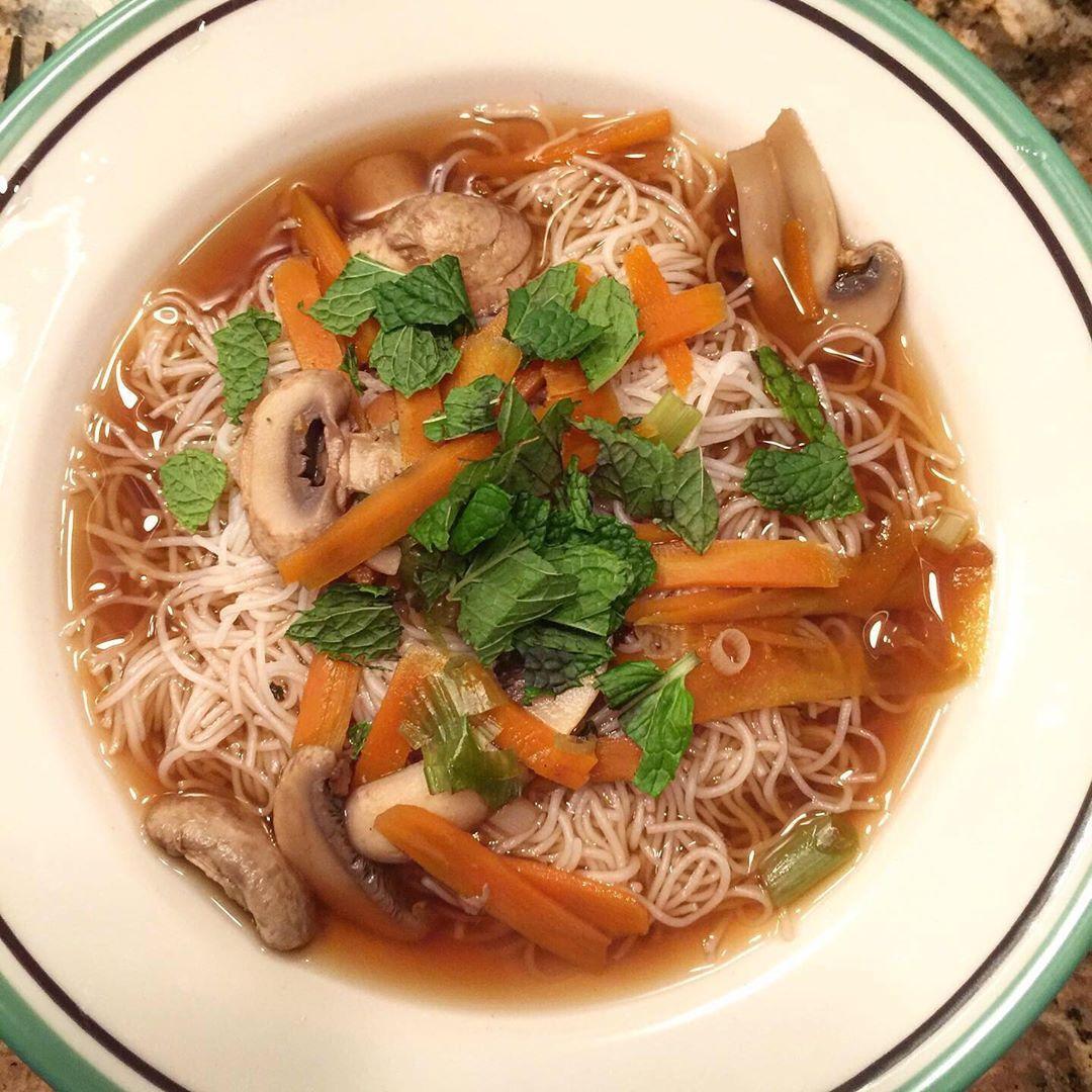Homemade Vegetable Pho soup