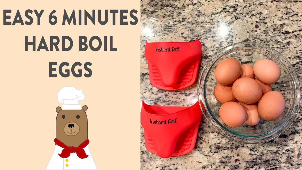 Instapot Hard Boiled Eggs in 6 Minutes!