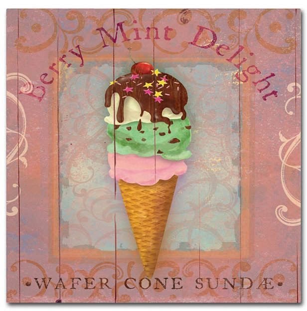 Fiona Stokes-Gilbert-ali 'Parlor Ice Cream Ii' Canvas Art