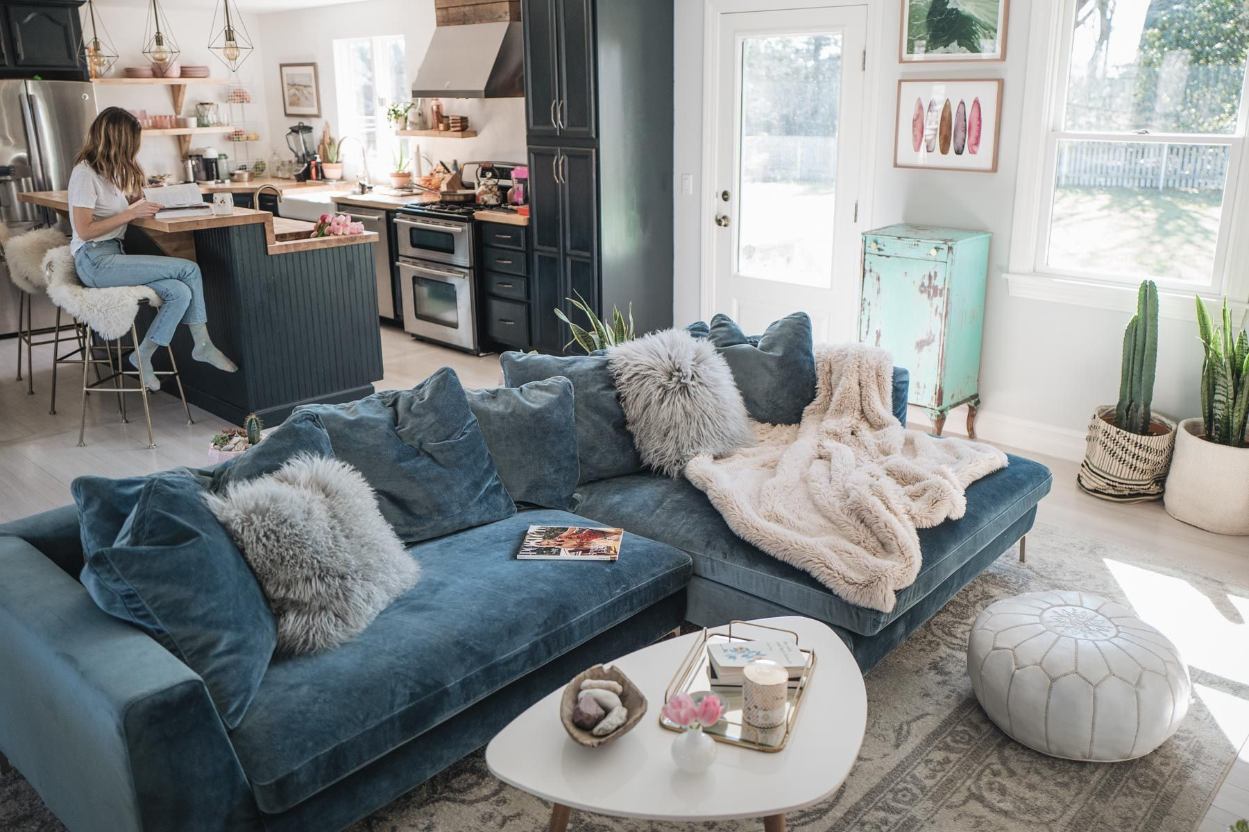 Living Room Reveal Rove Concepts Hugo Sectional Review Jess