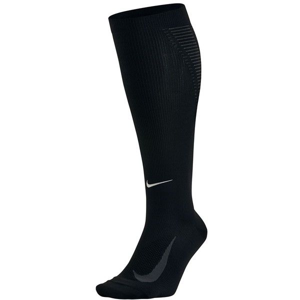 Women's Nike 'Elite' Knee High Socks ($50) ❤ liked on Polyvore featuring intimates, hosiery, socks, nike socks, knee socks, nike, knee hi socks and tall socks