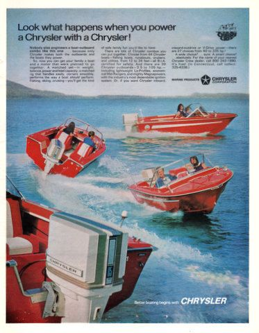 Chrysler Boats And Motors In 1969 Print Ad Outboard By Vividiom