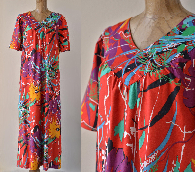 Vintage 70/'s CaftanNursing Gown